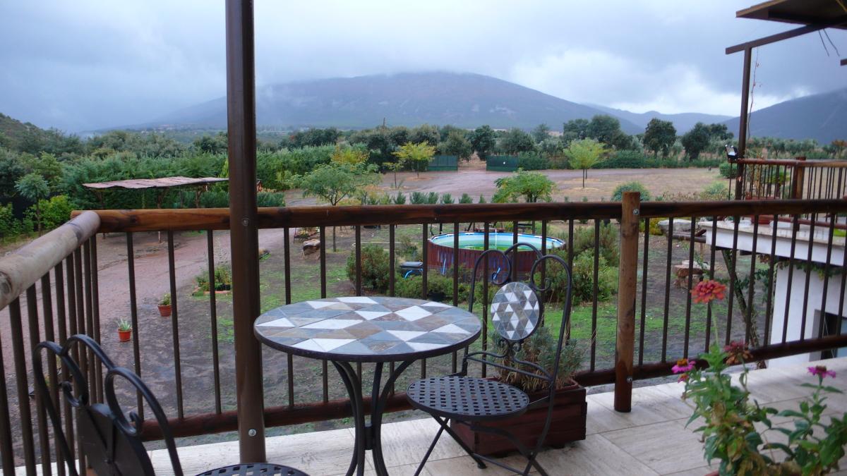 Vista Montes de Toledo desde Casa Rural Los Pájaros
